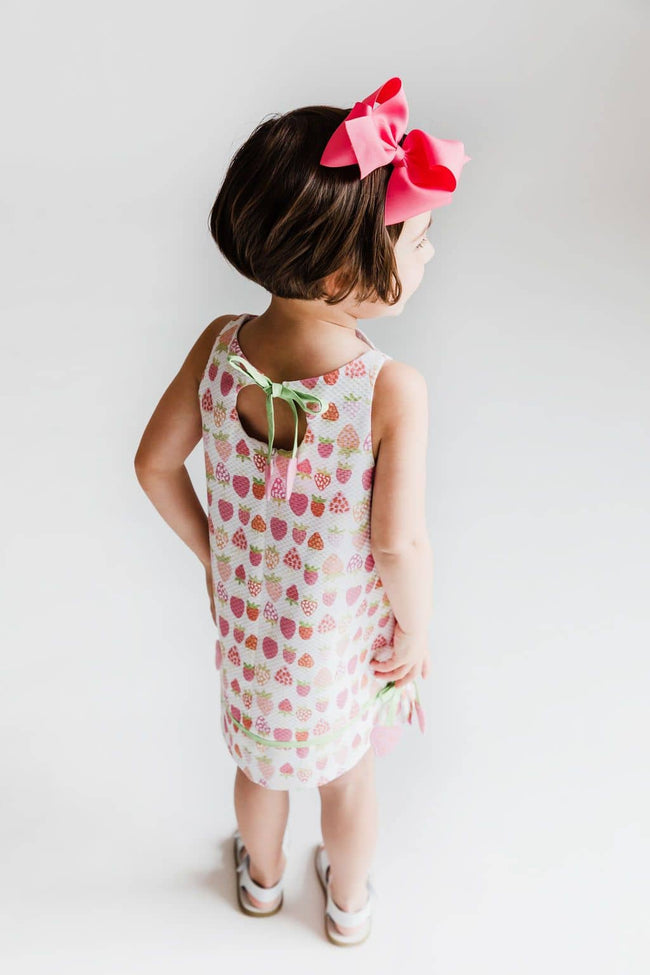 Strawberry Print Pique Dress
