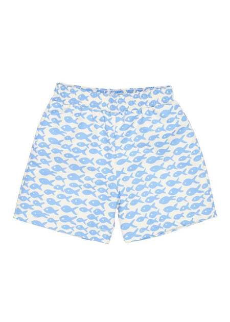 Seersucker Shorts With Sailboat