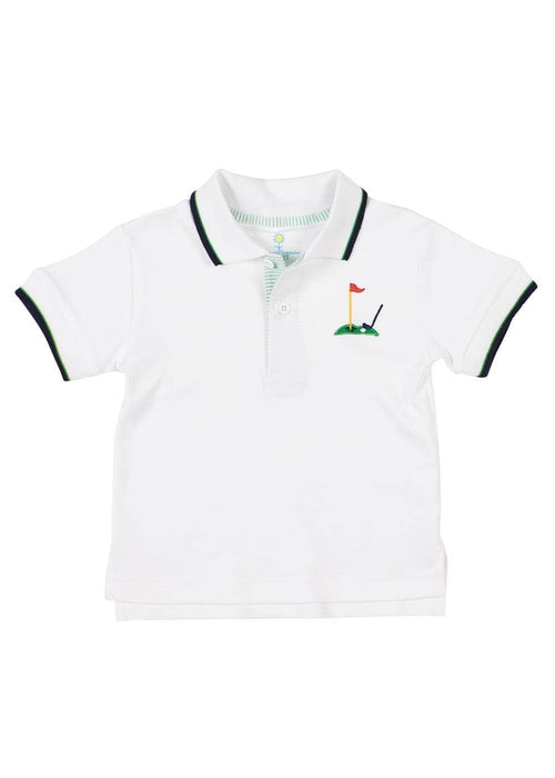 Polo Shirt With Golf Embroidery