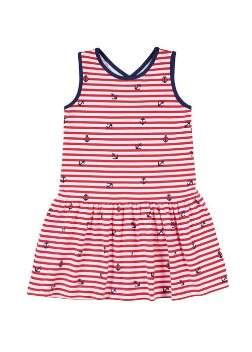 Anchor Stripe Cross Back Dress - Florence Eiseman