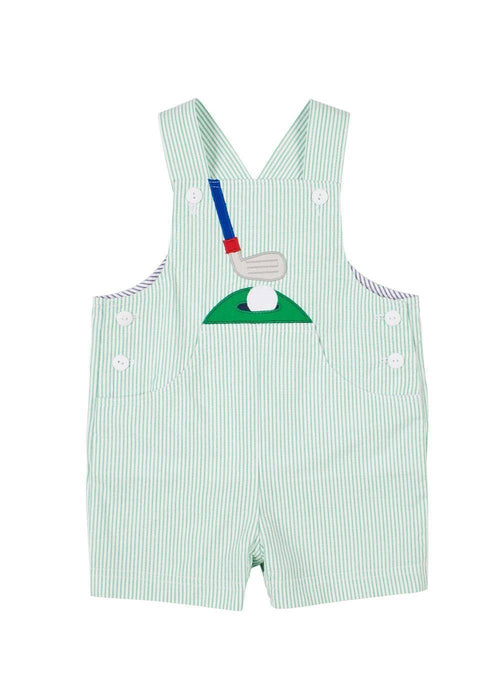 Seersucker Golf Shortall