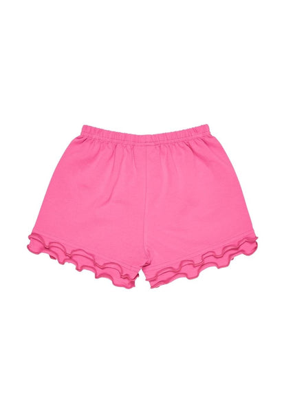 Girls Pink Knit Shorts