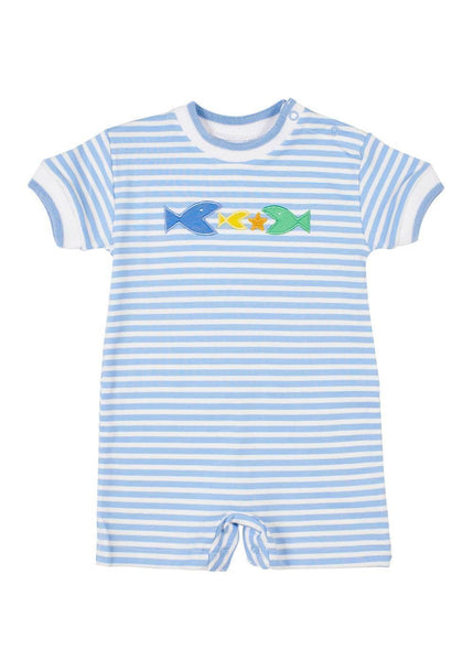 Knit Shortall With Fish - Florence Eiseman