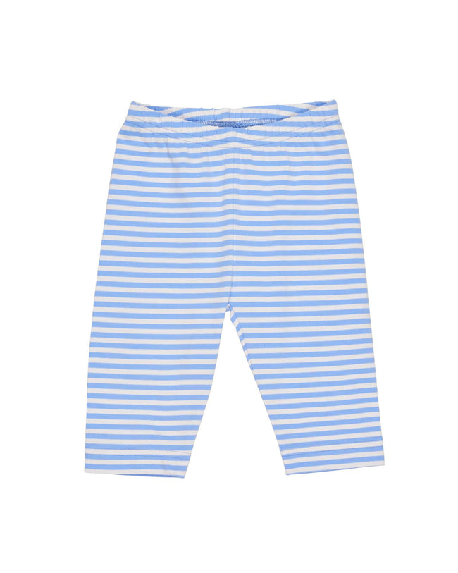 Periwinkle and White Stripe Capris