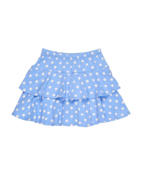 Periwinkle and White Dot Tiered Skirt - Florence Eiseman