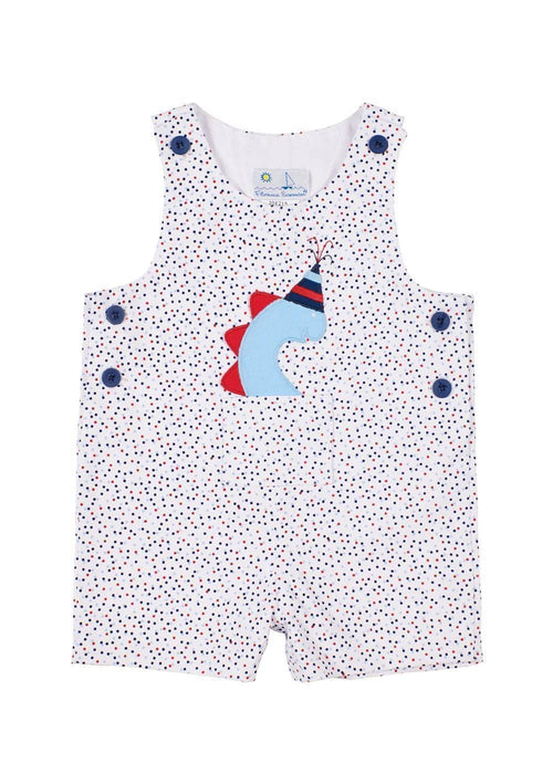 Multi Dot Pique Shortall With Party Dino