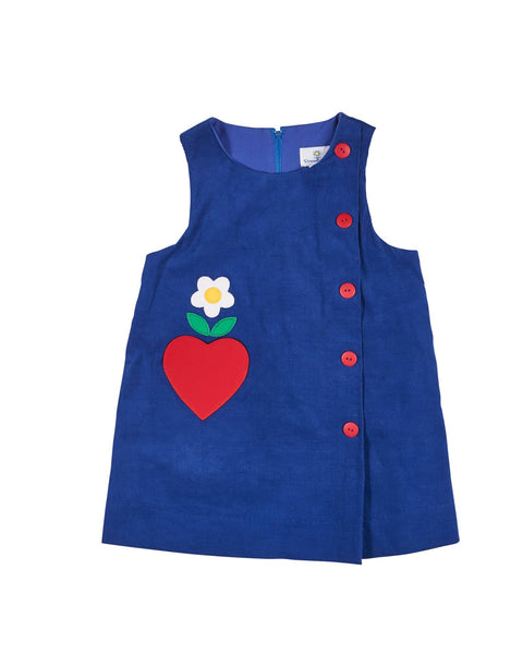 Royal Corduroy Jumper with Heart Pocket