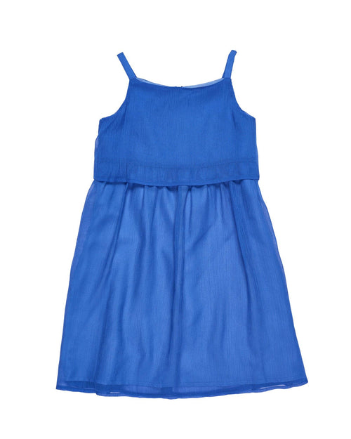 Tween Blue Crinkle Chiffon Tween Dress - Florence Eiseman