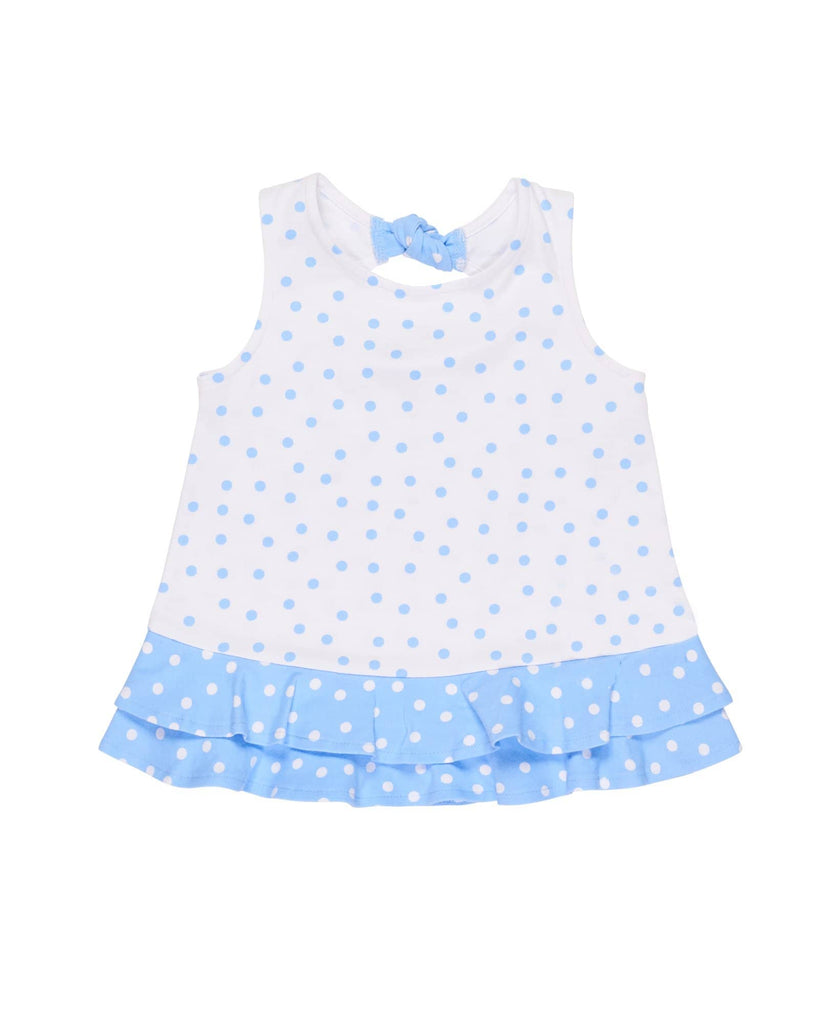 Dot Knit Top With Flowers Florence Eiseman