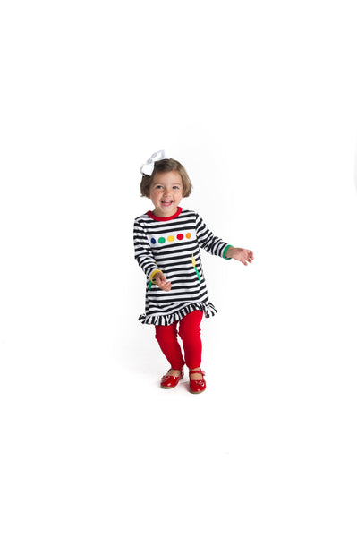 Knitted Stripe Paintbrush Tunic and Leggings