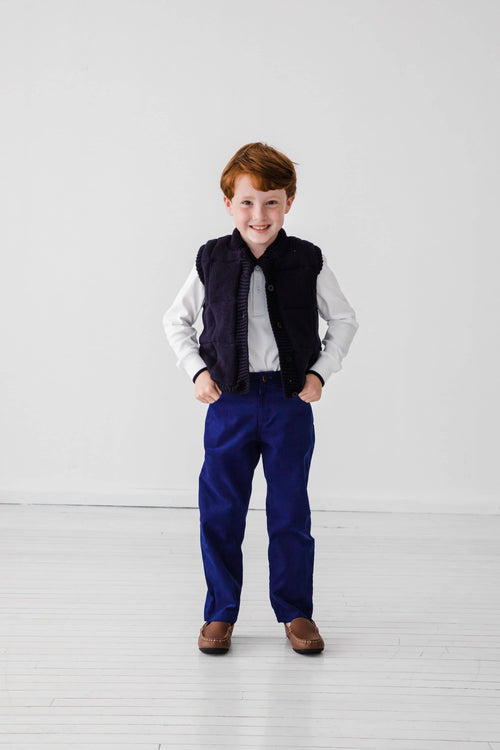 Boys Reversible Sweater Vest