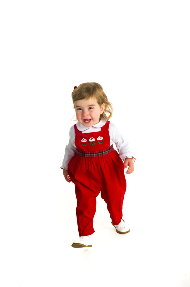 Red Corduroy Cupcake Longall