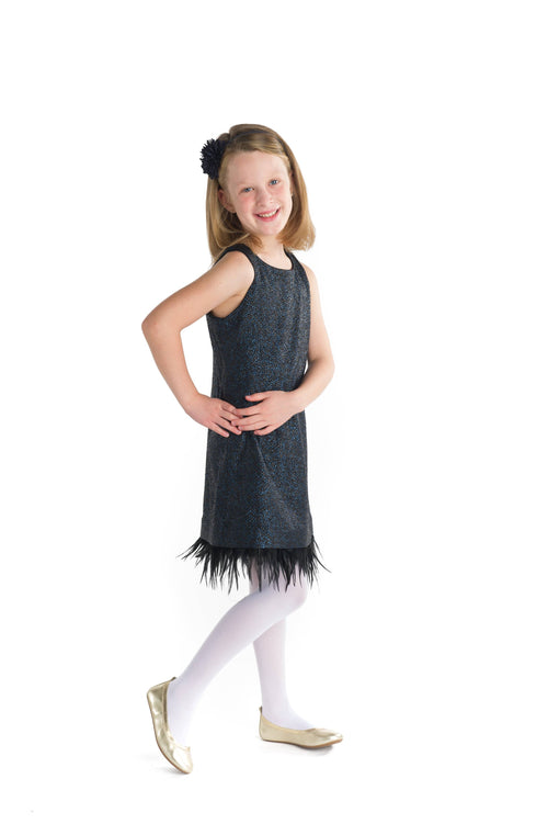 Knit Dress with Feather Hem - Florence Eiseman