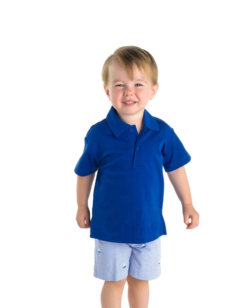 Classic Blue Boys Polo Shirt