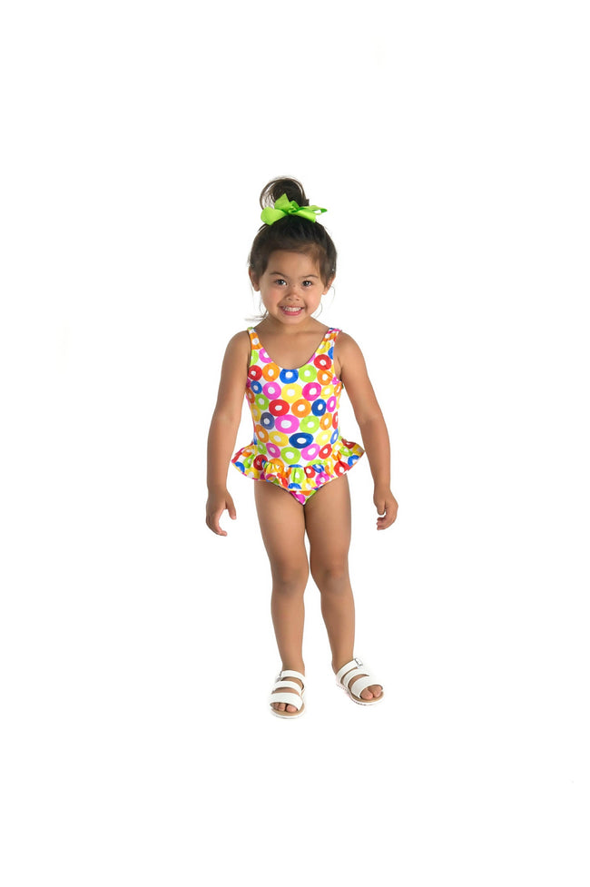 Multi Doughnut Print Swimsuit