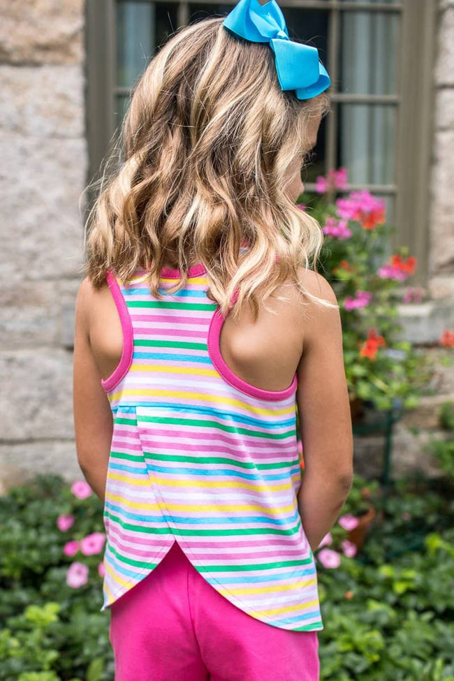 Stripe Y Back Tank Top