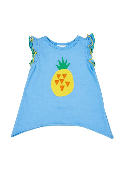 Girls Blue Pineapple Top