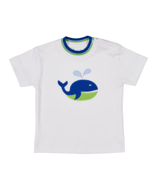Boys White T Shirt With Whale