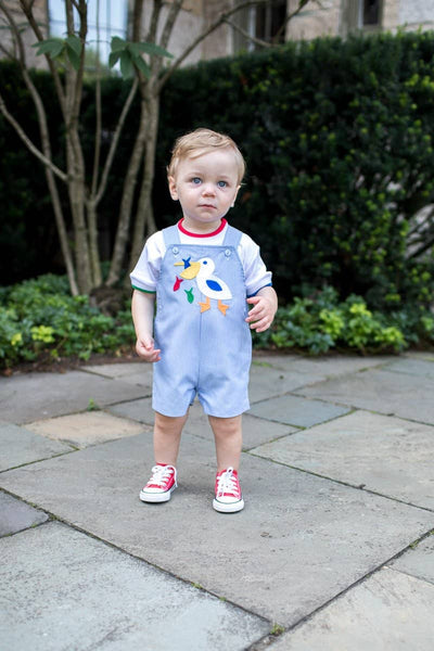 Blue Junior Cord Shortall with Pelican