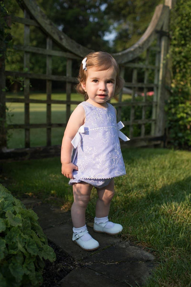 Embroidered Top and Bloomer