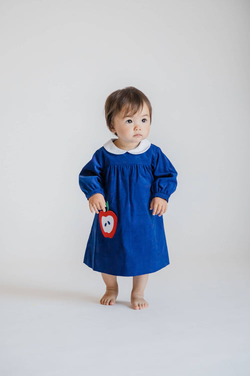 Baby and Toddler Girls Dress with Apple Pocket - Florence Eiseman