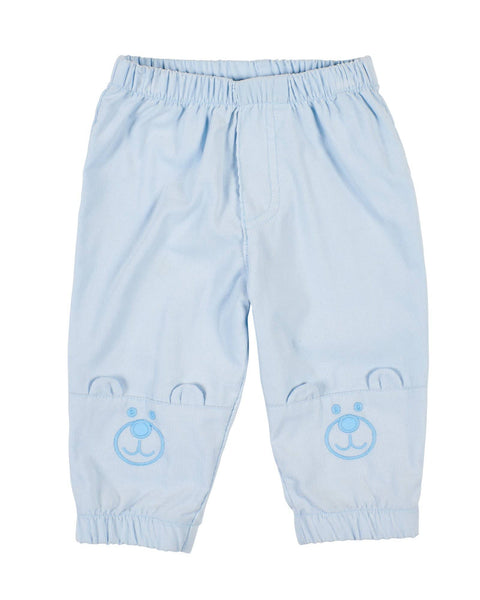 Light Blue Corduroy Bear Pants - Florence Eiseman