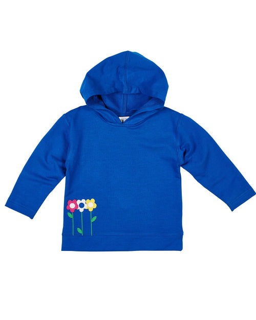 Girls Royal French Terry Hooded Top - Florence Eiseman