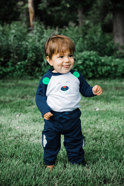 Baby Boy Bear Top and Jogger Pant - Florence Eiseman