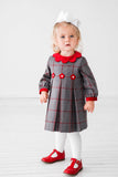 Grey/Red Windowpane Dress
