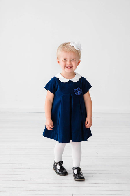 Navy Dress with Scottie Dog
