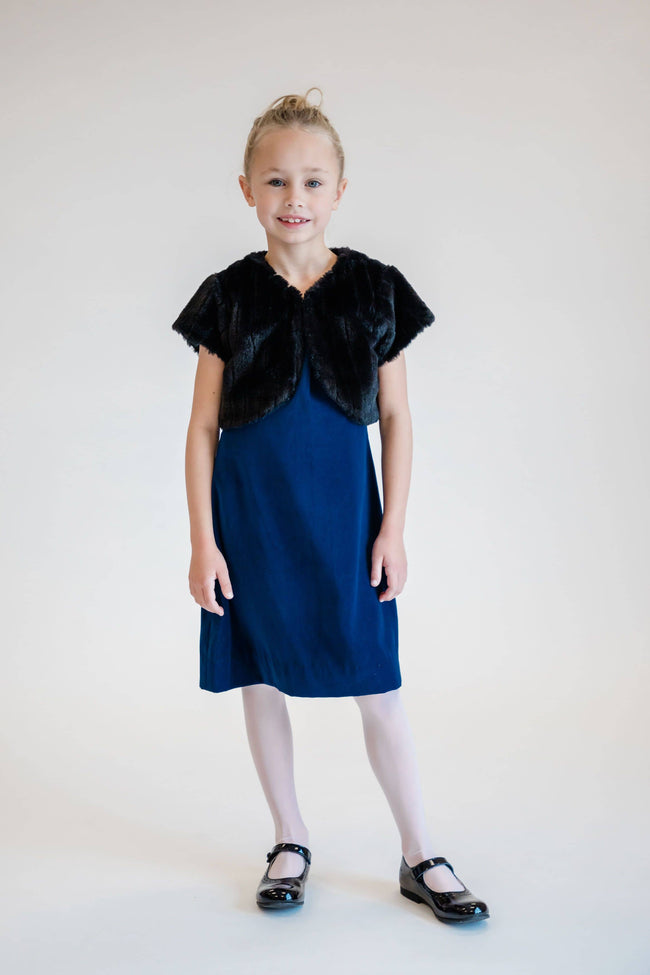 Royal Velvet Dress with Taffeta Ruffles