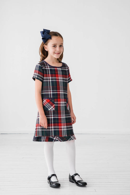 Plaid Boucle Dress - Florence Eiseman