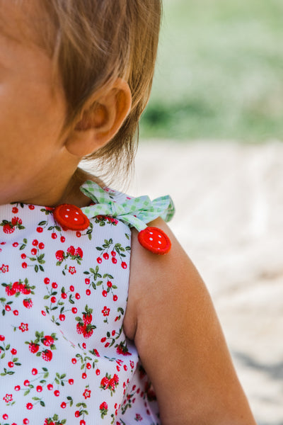 Cherry and Strawberry Print Baby Girl Romper