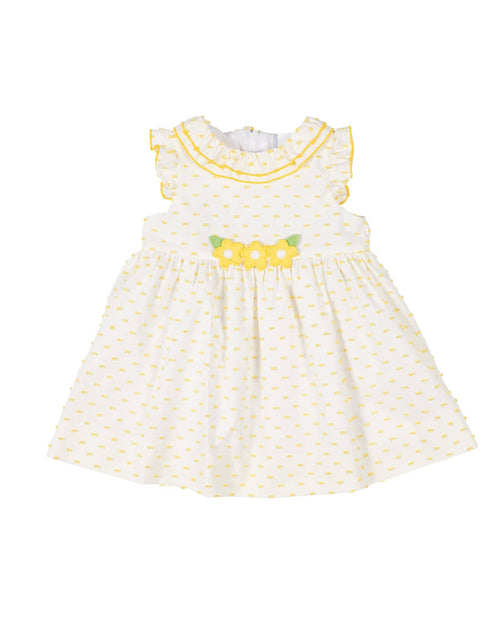 White/Yellow Swiss Dot Dress