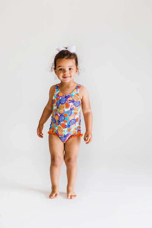 Tropical Fruit Print Swimsuit - Florence Eiseman