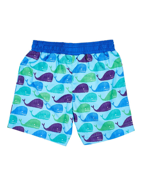 Blue Whale Print Lined Trunks - Florence Eiseman