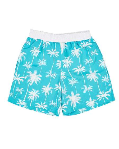 Car Print Swim Trunks