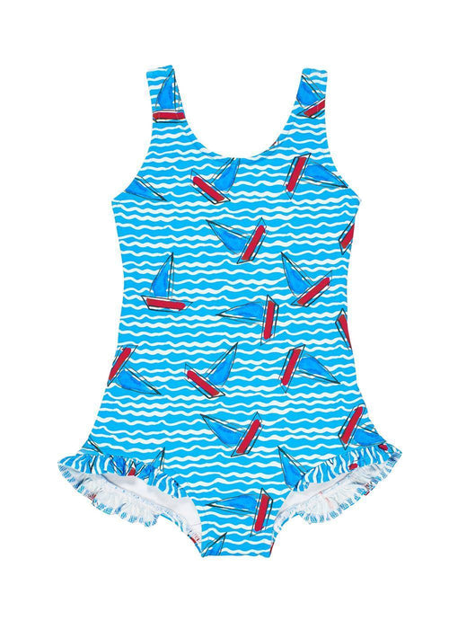 Boat Print Swimsuit