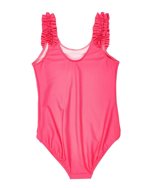 Girls Swimsuit with Shoulder Ruffles - Florence Eiseman