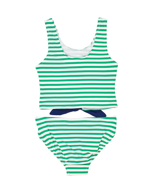Green Stripe Tankini