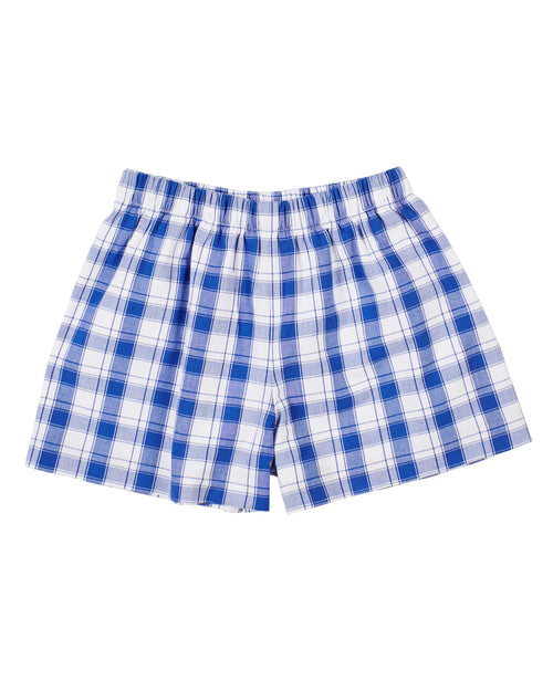 Royal Plaid Pull-On Short