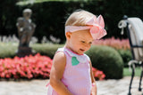 Pink Check Petal Neck Top With Bloomer