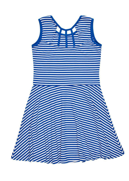 Stripe Knit Dress With Back Detail