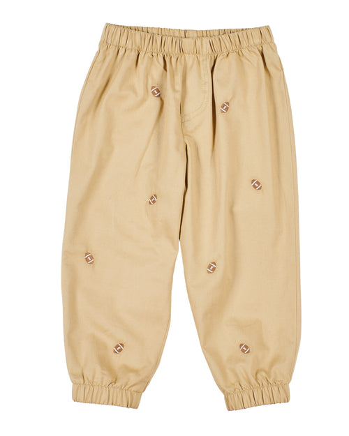 Baby & Toddler Khaki Joggers with Footballs