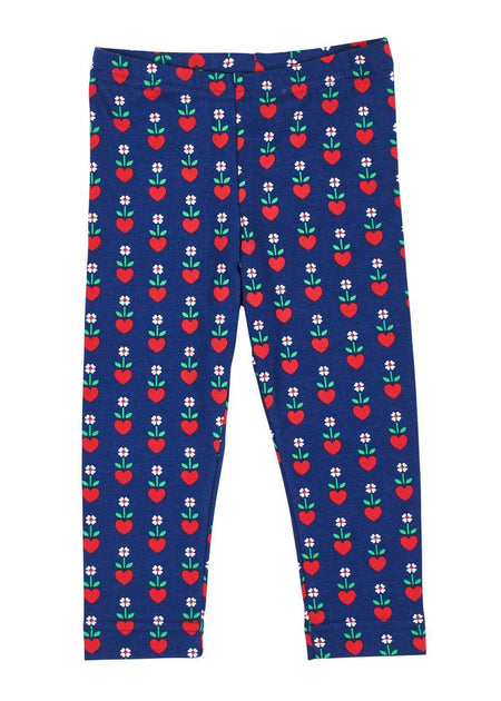 Navy Hearts & Flowers Onesie