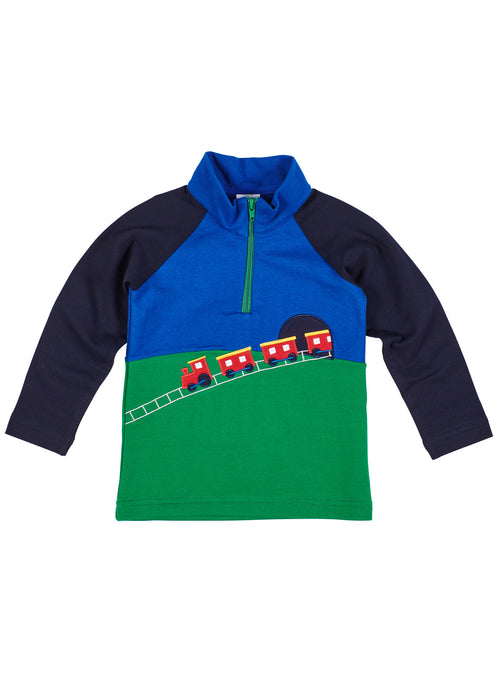 Boys Train Shirt in French Terry