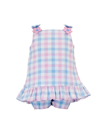 Light Blue Shortall with Ocean View Appliqués