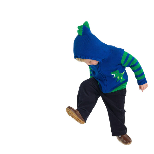 Royal and Green Dinosaur Sweater