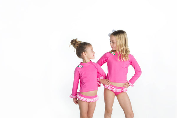 Girls Rash Guard with Matching Bottoms