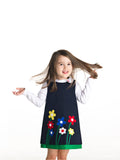 Navy Jumper with Appliqued Flowers